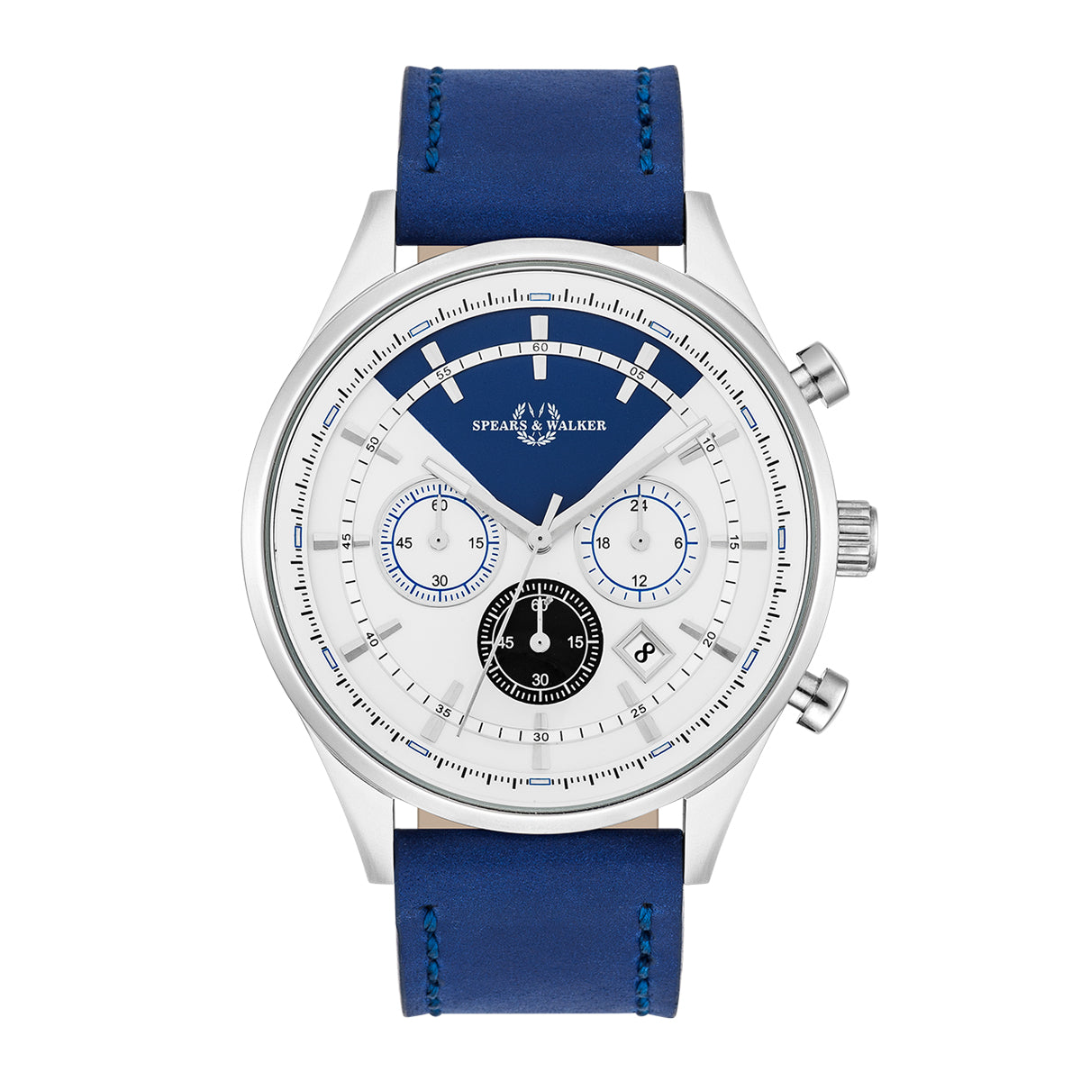 Power Racer Herrenuhr blau silber