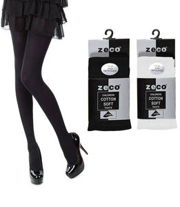 High Grade ZECO Cotton Tights Black White