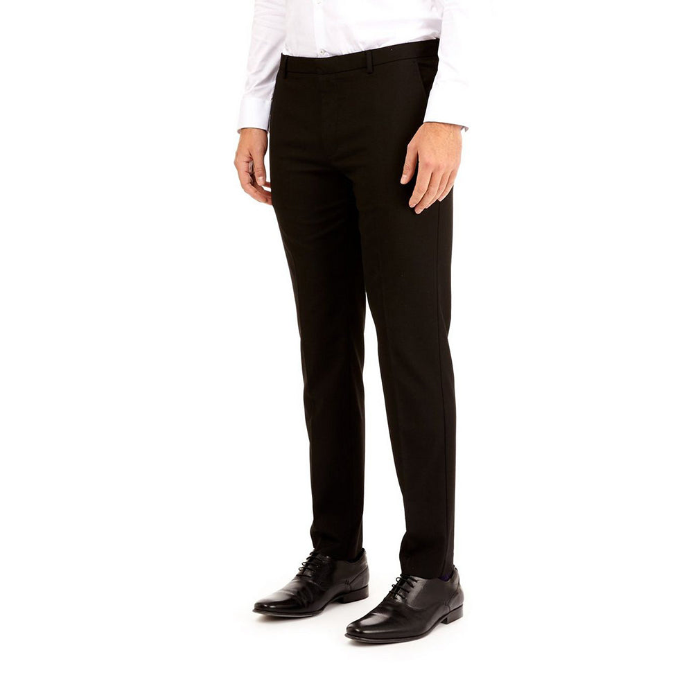 Youths-Mens Black Super Skinny STRETCH Lycra Fit Trousers