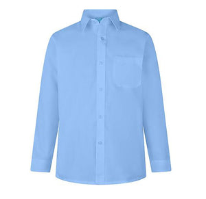 Girls Blue School Blouse/ Shirt Long or Short Sleeved