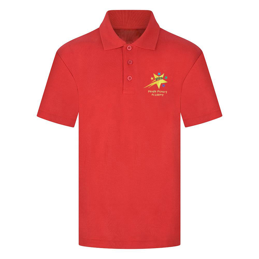 Pendle Primary Red Polo Shirt