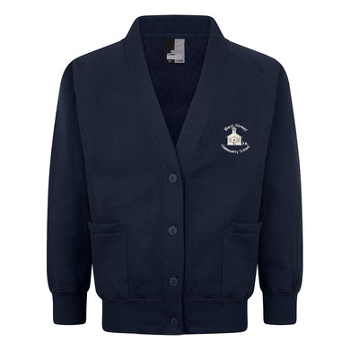 West Street Primary Sweat Cardigan With Logo