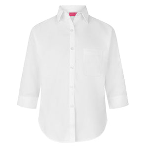 Girls 3/4 Sleeve White Blouse