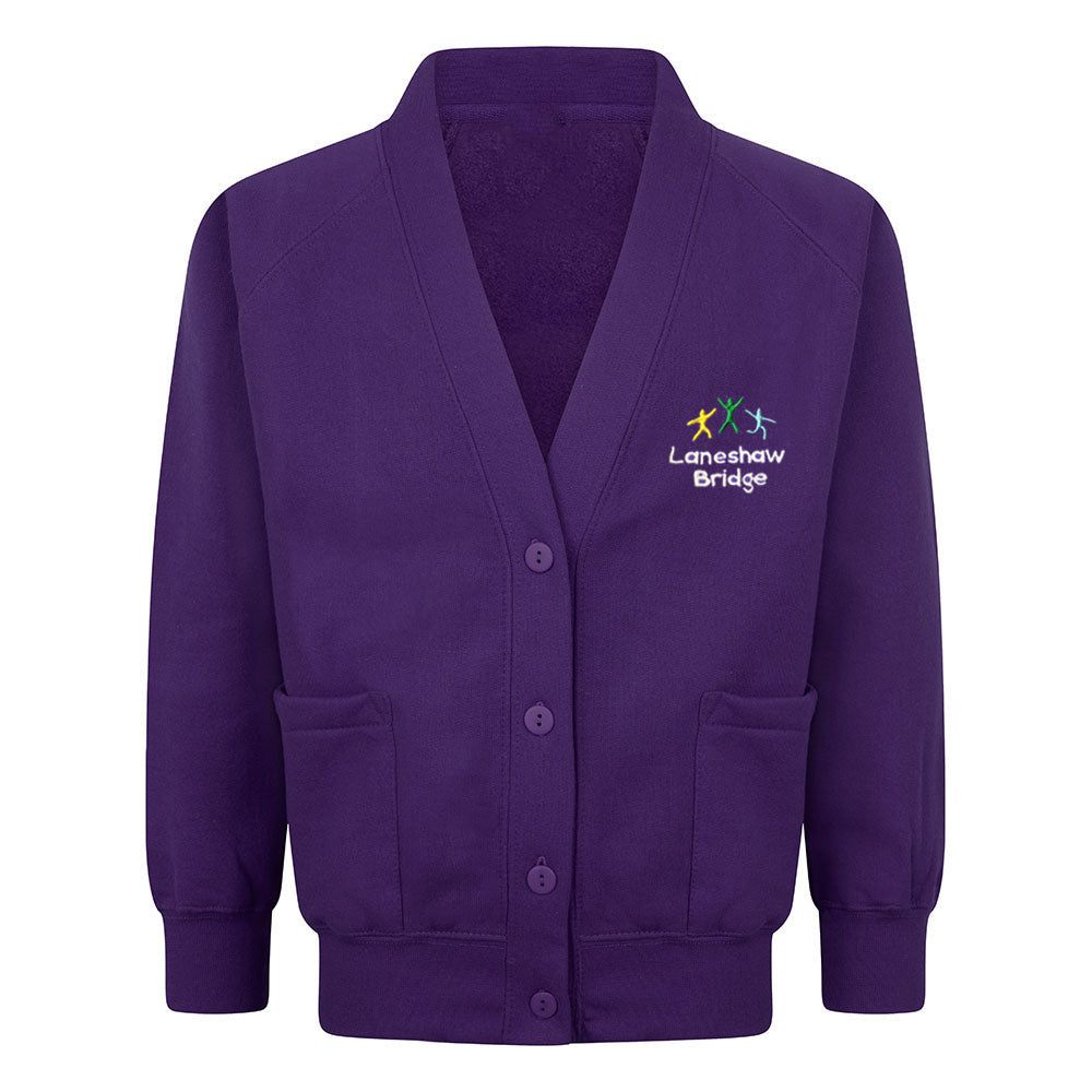 Laneshawbridge Primary Sweat Cardigan With Logo