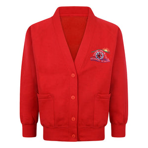Earby Springfield Primary Sweat Cardigan With Logo