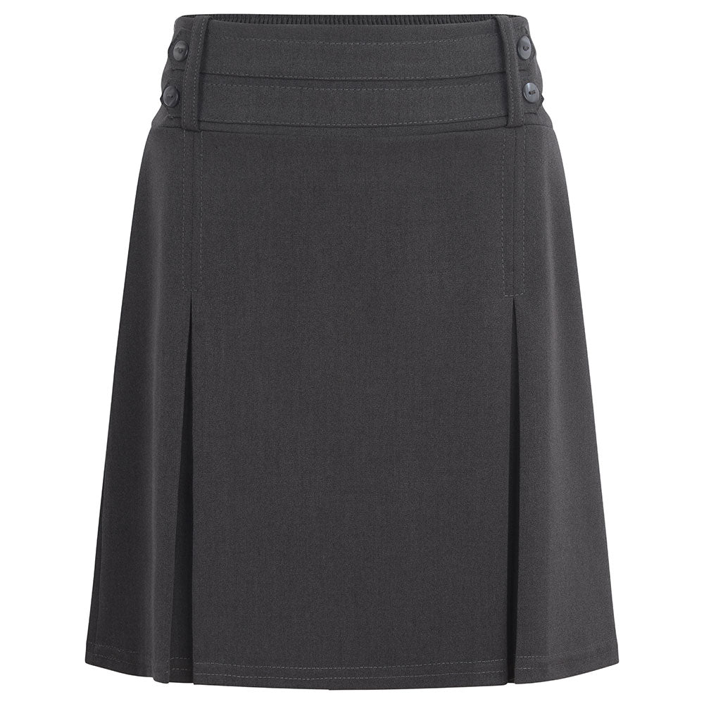 Grey Lycra Four Button Skirt