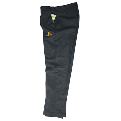 Colne Primet Academy Boys Mens Grey Trousers Slim Fit with School logo