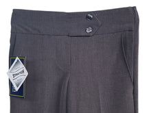 2 Button Girls Trouser Grey Half Elasticated