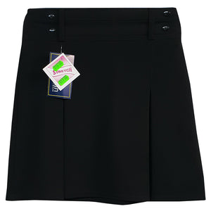 Skirt Black 4 Button Elasticated Back Short length