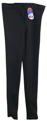 Girls Black Polyester Super Skinny Stretch Slim Fit Trouser