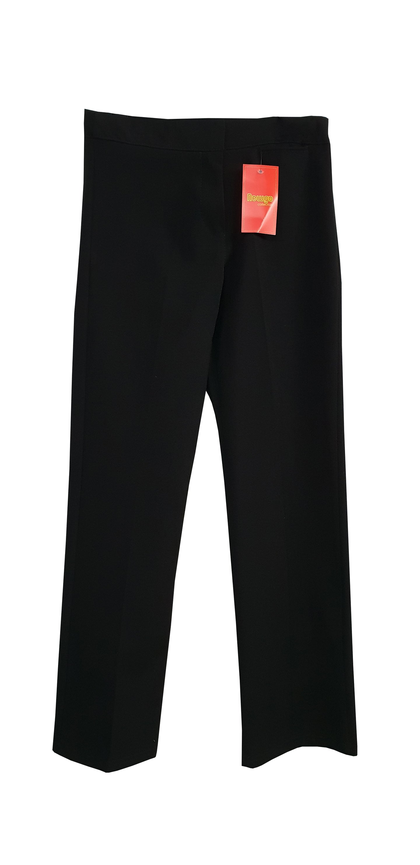 Regular Fit Girls Black Trouser With Adjusters