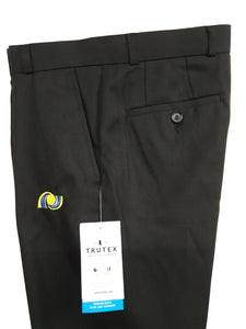 Pendle Vale Boys Black Sturdy Fit Trouser Half Elasticated
