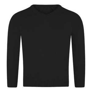 West Craven Black V Neck Jumper