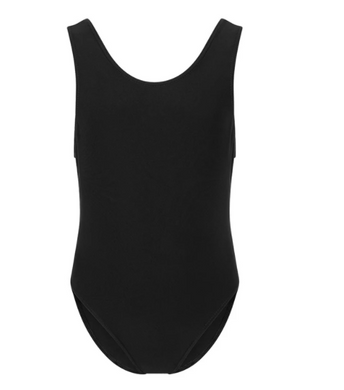 Black Elastane Swimming Costume