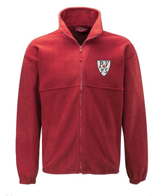 Pendle View Primary Fleece Jacket With Logo