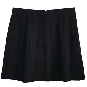 Girls Black Full Pleated Skirt