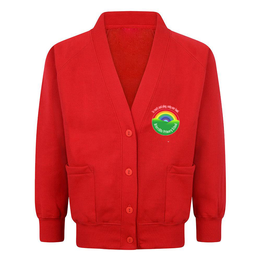 Briercliffe Primary Sweat Cardigan With Logo