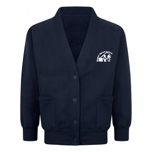 Bradley Primary Sweat Cardigan With Logo