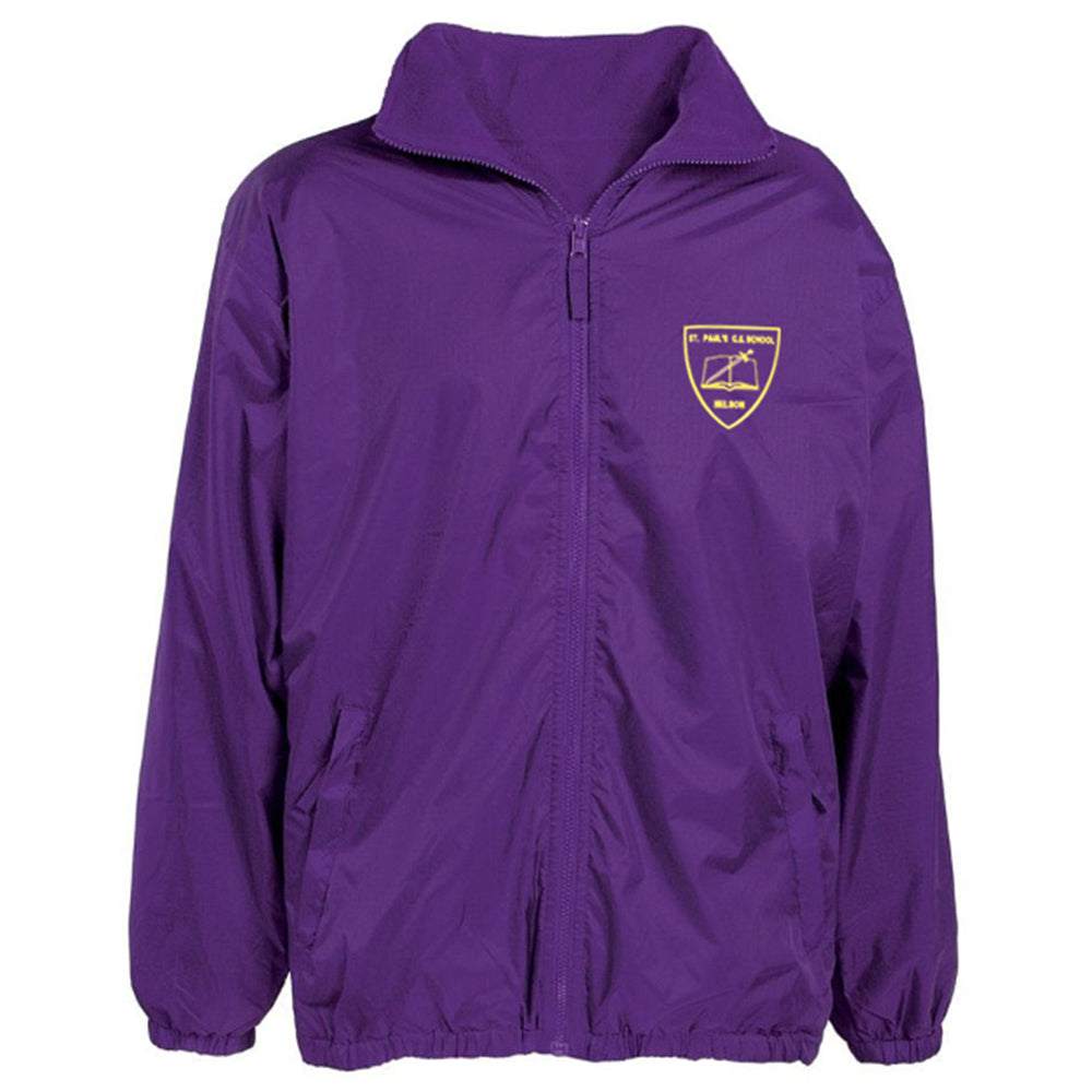 St Paul's RC Reversible Raincoat + Logo