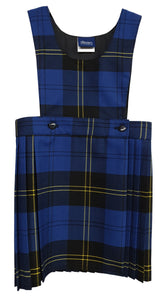 Bradley Primary Tartan Pinafore Dress