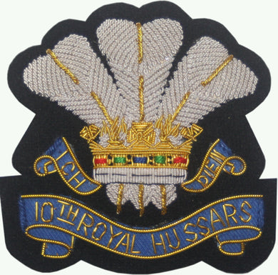 10th Royal Hussars Regiment Wire Bullion Blazer 9cm