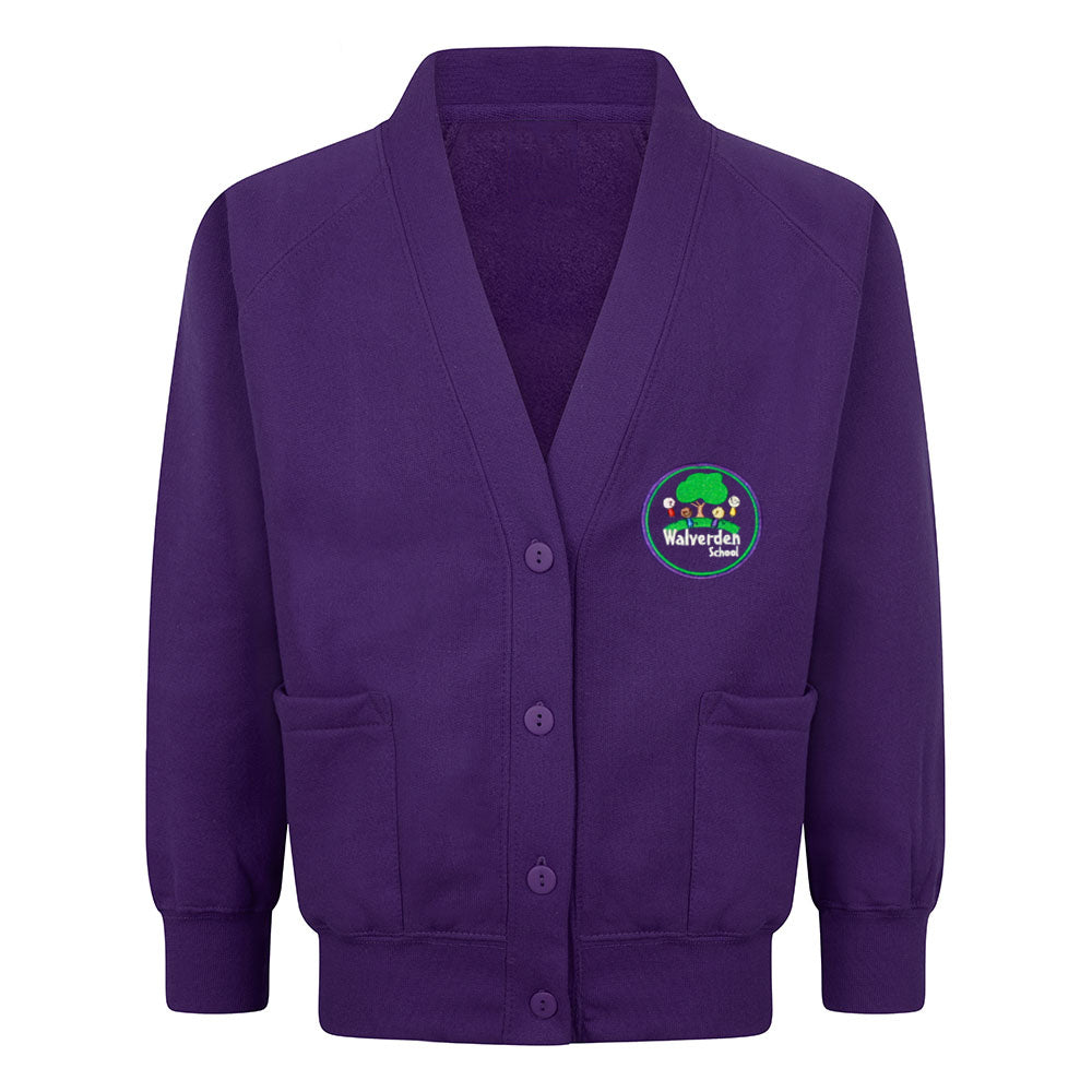 Walverden Primary Sweat Cardigan With Logo