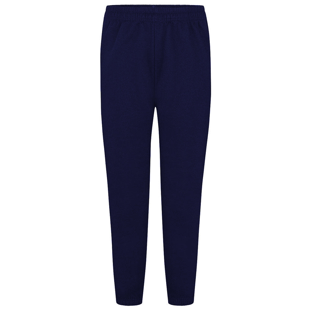 Plain Navy Fleece PE Tracksuit Bottoms