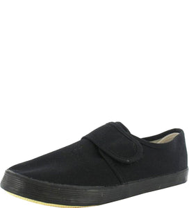 Unisex Slip on Gusset & Velcro Plimsols PE Pumps