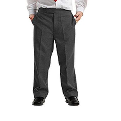 Boys Grey Sturdy Fit Trouser Half Elasticated