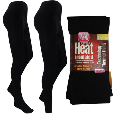 Girls Thermal Thick Winter Black Warm Stretchy Footless Foot Tights