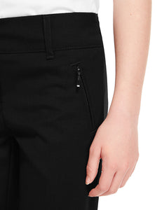 Girls Black Trousers Stretch Spandex Slim Fit