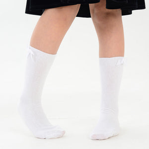 3 x Pairs Girls Dress Ankle Socks With a Bow Cotton Rich Colne Primet Academy