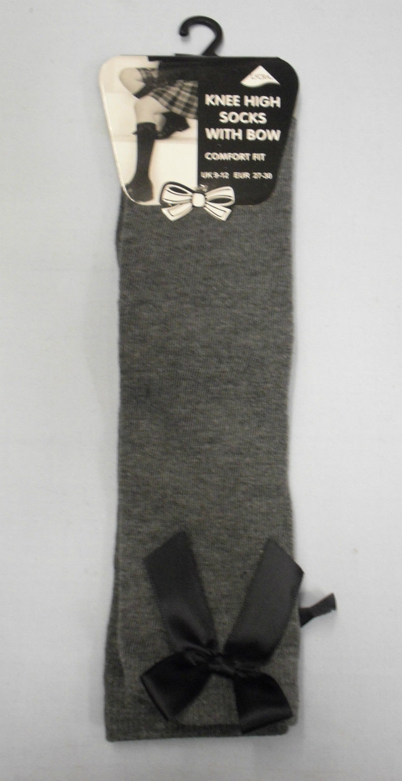 School Knee High Bow Socks Girls