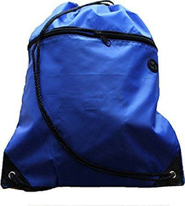 Drawstring PE Bag with Zip Pocket and Inner Pocket