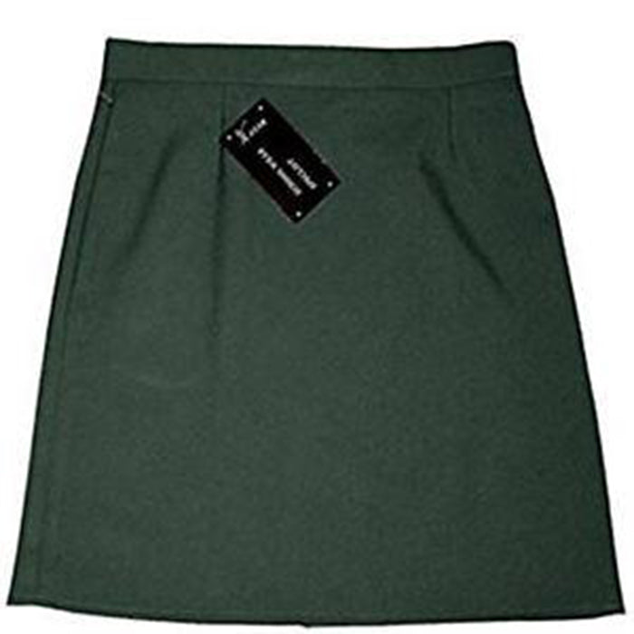 Green A-Line Straight Pencil Skirt School Uniform Ladies & Kids Adjustable waist