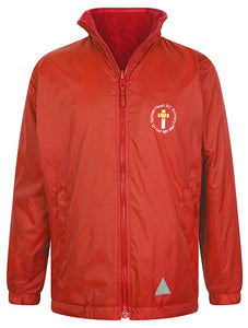 Sacred Heart Reversible Raincoat With Logo