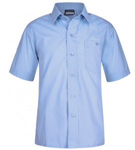 Boys Blue School Shirt with Breast Pocket