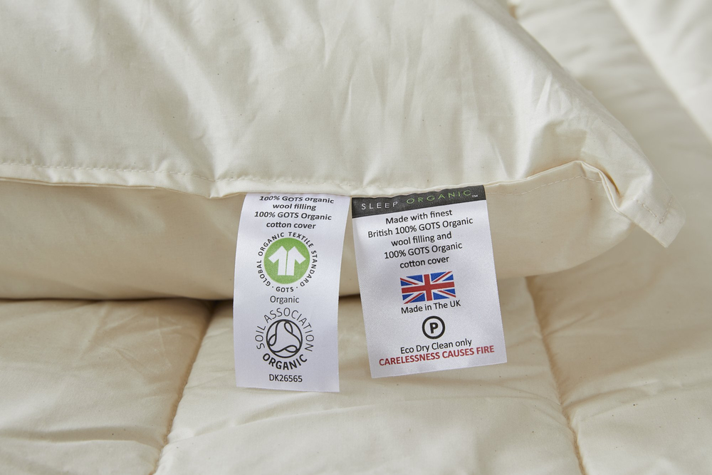 Organic pillows and organic duvets; wool pillows; wool duvets