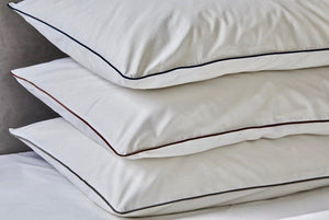 Organic cotton piping pillowcases