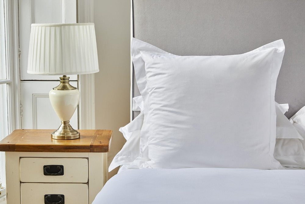 Oxford square organic cotton pillowcase