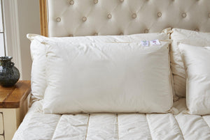 Organic wool pillow; sustainable pillow