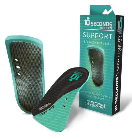 10 Seconds 3/4 Arch Stability Performance Insoles
