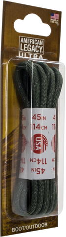 American Legacy Heavy-Duty Laces | Paracord Laces [ Reflective / Green ]