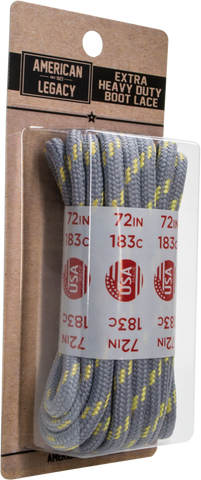 American Legacy Extra Heavy-Duty Laces | Paracord Laces [ Grey / Kevlar ]