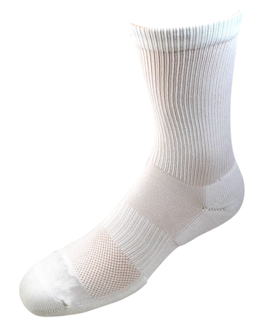 2ndWind -Recovery- Titanium Infused Socks [ 2Pack ] - High Crew White