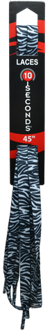 "10 Seconds Classics 3/8""Printed Shoelace - Black & White Zebra"