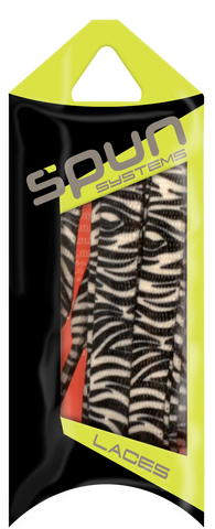 "Spun™ 3/8"" Printed ShoeLaces - Black & White Zebra"
