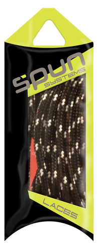 Spun™ Round Sport ShoeLaces - Black & White