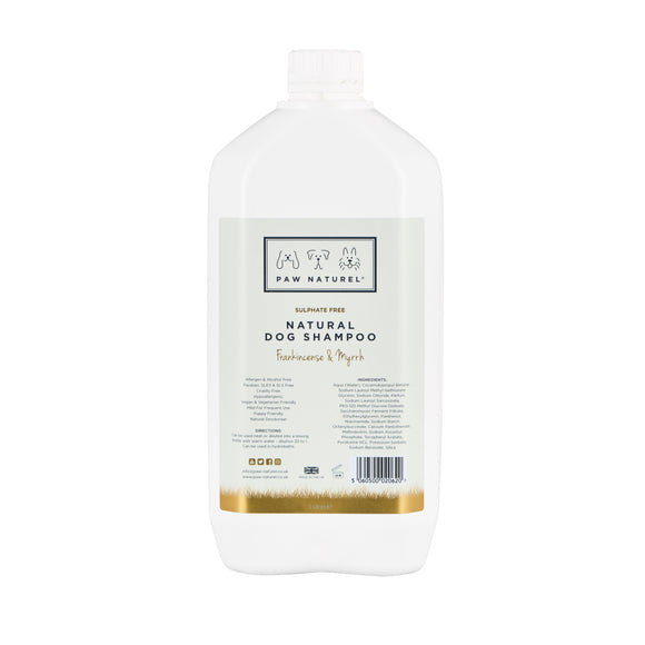 Paw Naturel Frankincense & Myrrh Natural Dog Shampoo 5 litre