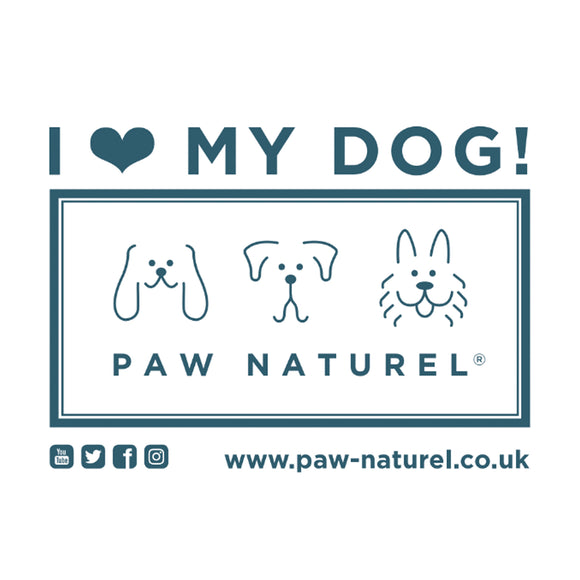 Paw Naturel I LOVE MY DOG Car Sticker ♡